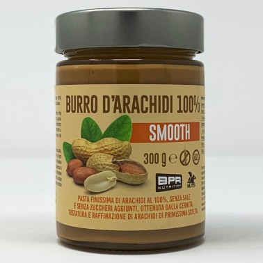 BPR NUTRITION Burro D'Arachidi 100% SMOOTH 300 g in vendita su Nutribay.it