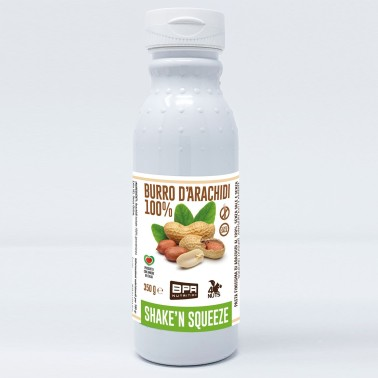 BPR NUTRITION Burro D'Arachidi 100% SHAKE 'N SQUEEZE 350 gr in vendita su Nutribay.it