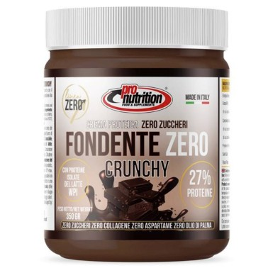 PRONUTRITION FONDENTE ZERO CRUNCHY 350 gr CIOCCOLATO FONDENTE in vendita su Nutribay.it