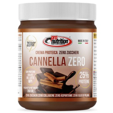 PRONUTRITION FONDENTE ZERO CANNELLA 350 gr CIOCCOLATO  in vendita su Nutribay.it