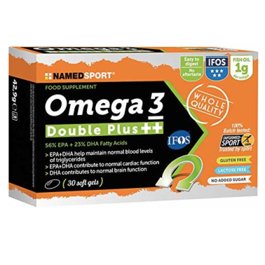 Named Sport Omega 3 Double Plus ++ 30 Perle Certificazione Ifos 5 Stelle in vendita su Nutribay.it