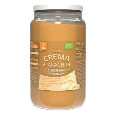 SMILE CRUNCH 100% Burro di Crema di Arachidi 600 gr BIOLOGICO in vendita su Nutribay.it