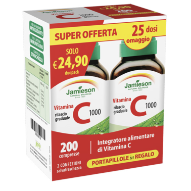 Jamieson C 1000 Timed Release Dual pack 2 x 100 cpr. Vitamina C a Rilascio Graduale in vendita su Nutribay.it