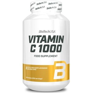 Biotech Usa Vitamin C 1000 250 cpr Vitamina C con rosa canina e bioflavonoidi in vendita su Nutribay.it