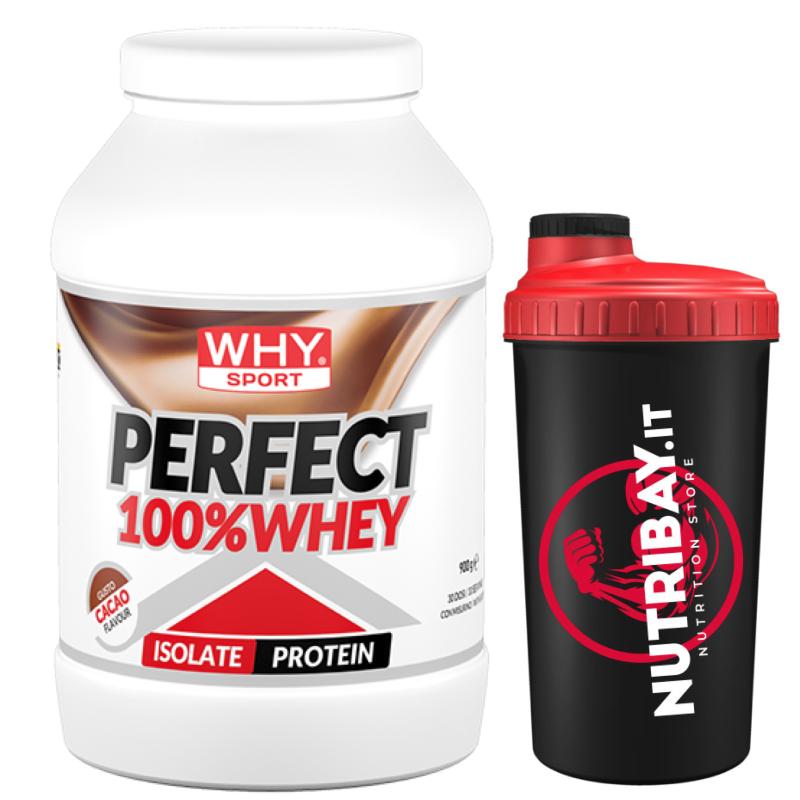 Why Sport 100% Perfect Whey 900 gr. Proteine Siero del Latte Isolate + SKAKER in vendita su Nutribay.it