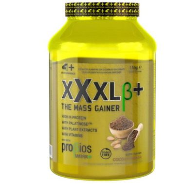 4+ Nutrition XXXL+ 1,5 kg Mega Mass Gainer per aumento Massa in vendita su Nutribay.it