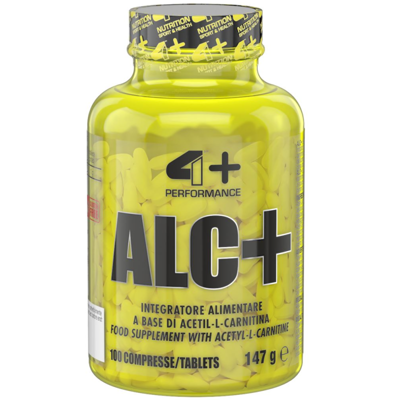 4+ Nutrition ALC+ Acetil Carnitina 100 cpr. da 1 Grammo in vendita su Nutribay.it