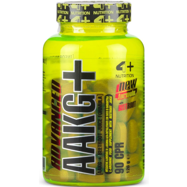 4+ Nutrition Advanced AAKG+ 90 cpr. Arginina Alfa Cheto Glutarato alto Dosaggio in vendita su Nutribay.it