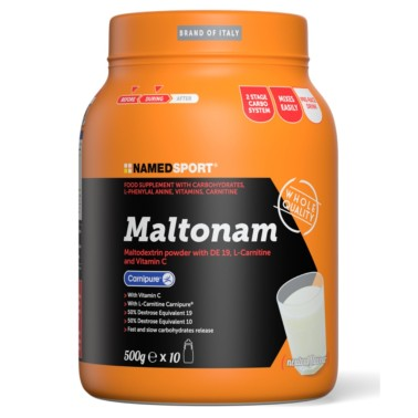 NAMED Sport MaltoNam 500 gr Matodestrine con Carnitina e vitamine in vendita su Nutribay.it