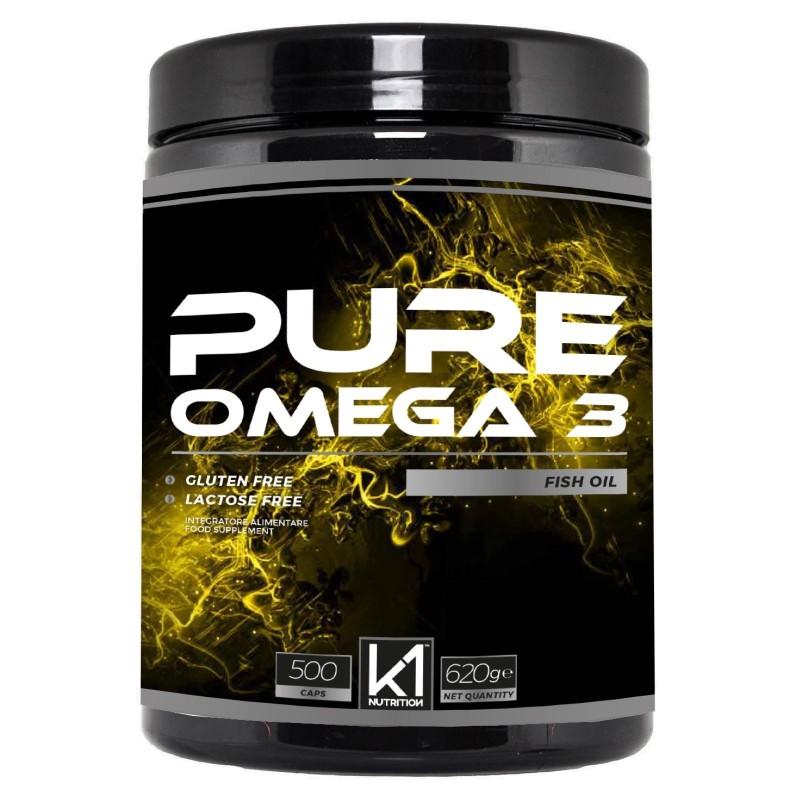 K1 Nutrition PURE OMEGA 3 Fish Oil 500 perle in vendita su Nutribay.it