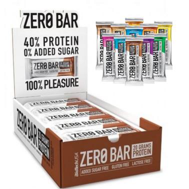 Biotech Zero Bar 20 Barrette Proteiche da 50 gr Senza Carboidrati con Proteine in vendita su Nutribay.it