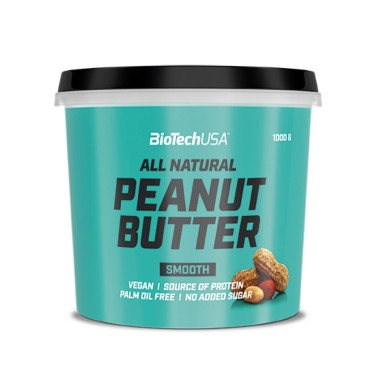 BIOTECH USA PEANUT BUTTER All Natural SMOOTH 1 kg in vendita su Nutribay.it