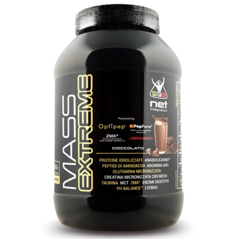 Net Integratori Mass Extreme 1,5 kg Mega Mass Gainer con Proteine Zma in vendita su Nutribay.it