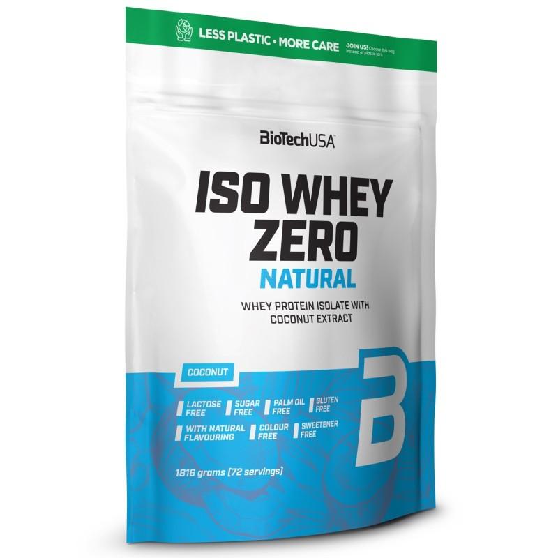 Biotech Iso Whey Zero 1816 gr LACTOSE FREE NATURAL in vendita su Nutribay.it