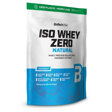 Biotech Iso Whey Zero 500 gr LACTOSE FREE NATURAL in vendita su Nutribay.it