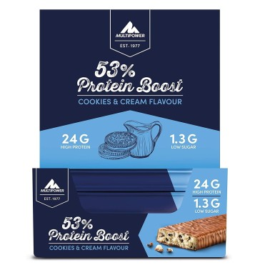 MULTIPOWER PLATINUM PROTEIN BOOST 53% 20 x 40 gr in vendita su Nutribay.it