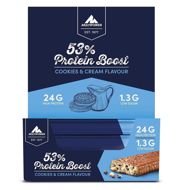 MULTIPOWER PLATINUM PROTEIN BOOST 53% 20 x 40 gr in vendita su Nutribay.it