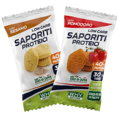 WHY NATURE LOW CARB SAPORITI PROTEICI 30gr in vendita su Nutribay.it