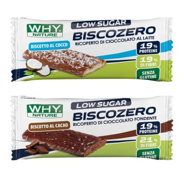 WHY NATURE BISCOZERO LOW SUGAR 25 gr in vendita su Nutribay.it