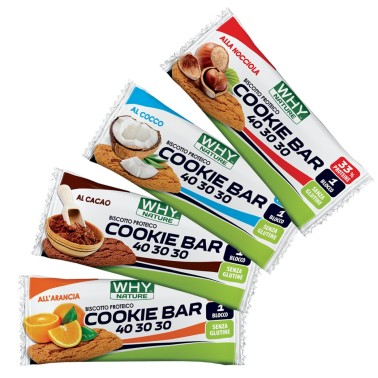 WHY NATURE COOKIE BAR BISCOTTO PROTEICO 21 gr in vendita su Nutribay.it