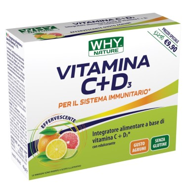WHY NATURE VITAMINA C+D3 14 buste in vendita su Nutribay.it