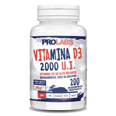 PROLABS VITAMINA D3 200 MICROCOMPRESSE 2000 UI in vendita su Nutribay.it