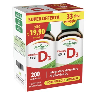 Jamieson Vitamina D3 dual Pack 200 cpr in vendita su Nutribay.it