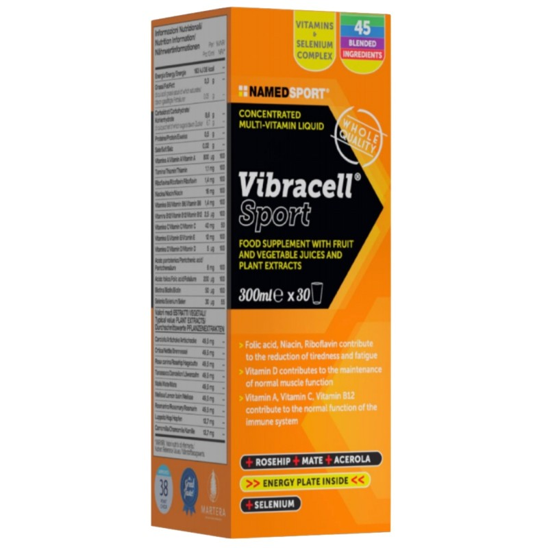 NAMED SPORT Vibracell 300ml. Multivitaminico Concetrato Biologico Energizzante in vendita su Nutribay.it