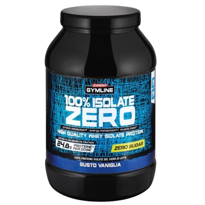ENERVIT GYMLINE WHEY PROTEIN 100% ISOLATE ZERO 900 gr in vendita su Nutribay.it