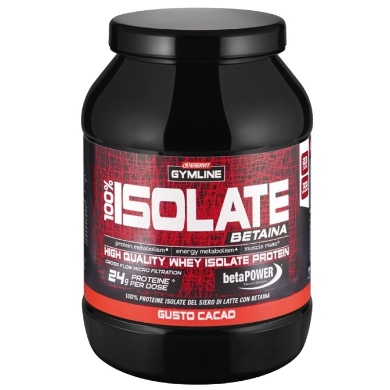 ENERVIT GYMLINE WHEY PROTEIN 100% ISOLATE CON BETAINA 700 gr in vendita su Nutribay.it