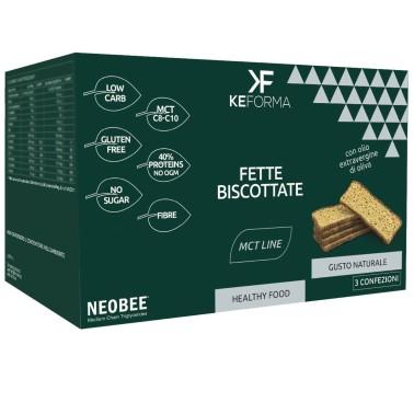KEFORMA MCT FETTE BISCOTTATE 3 confezioni da 40 g in vendita su Nutribay.it