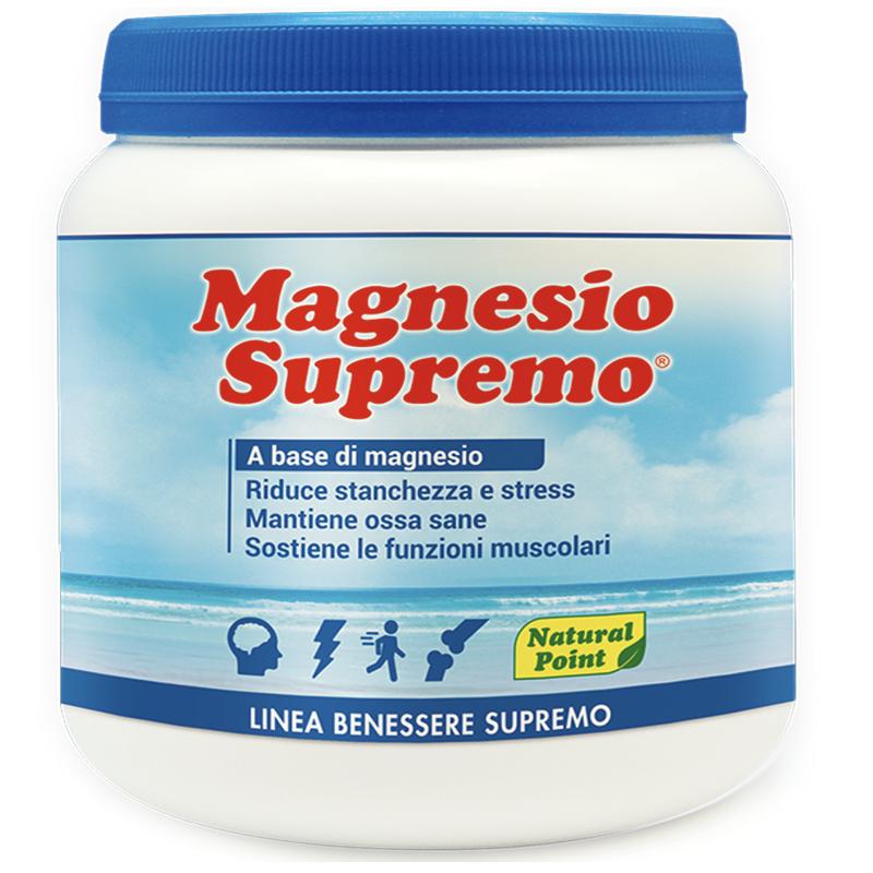 Magnesio Supremo NATURAL POINT 300 gr Antistress con Mag Citrato e Carbonato in vendita su Nutribay.it