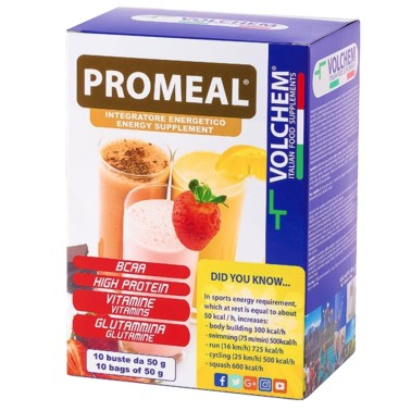VOLCHEM PROMEAL® GAINER-WORKOUT 10 bustine 50 g in vendita su Nutribay.it