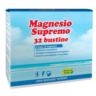 NATURAL POINT MAGNESIO SUPREMO 32 bustine in vendita su Nutribay.it