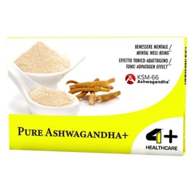 4+ NUTRITION PURE ASHWAGANDHA+ 30 caps in vendita su Nutribay.it
