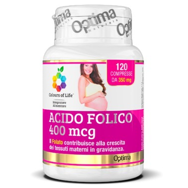 OPTIMA ACIDO FOLICO 400 MCG 120 cpr in vendita su Nutribay.it