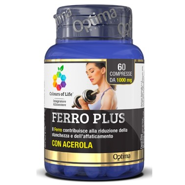 OPTIMA FERRO PLUS CON ACEROLA 60 cpr in vendita su Nutribay.it