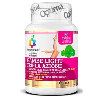 OPTIMA GAMBE LIGHT TRIPLA AZIONE 30 caps in vendita su Nutribay.it