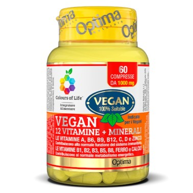 OPTIMA VEGAN 12 VITAMINE + MINERALI 60 cpr in vendita su Nutribay.it