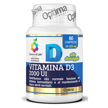 OPTIMA VITAMINA D3 2000 U.I 60 cpr in vendita su Nutribay.it