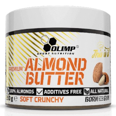 OLIMP ALMOND BUTTER SOFT CRUNCHY 350 g in vendita su Nutribay.it