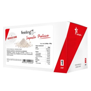 FEELING OK START 1 IMPASTO PROTEICO 2 X 300 g in vendita su Nutribay.it