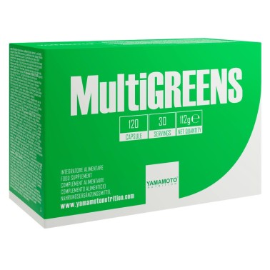 YAMAMOTO NUTRITION MULTIGREENS 120 caps in vendita su Nutribay.it