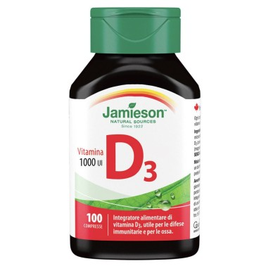 JAMIESON VITAMINA D3 1000 ui 100 cpr in vendita su Nutribay.it