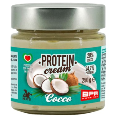 BPR NUTRITION PROTEIN CREAM COCCO 250 g in vendita su Nutribay.it
