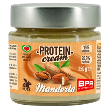 BPR NUTRITION PROTEIN CREAM MANDORLA 250 g in vendita su Nutribay.it