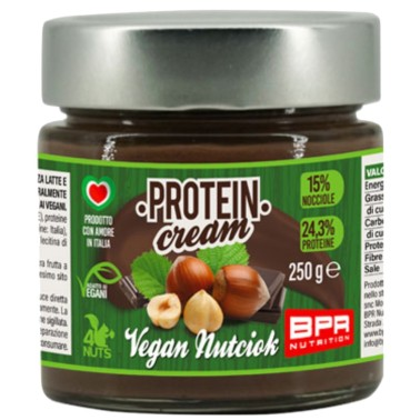 BPR NUTRITION PROTEIN CREAM VEGAN NUTCIOK 250 g in vendita su Nutribay.it