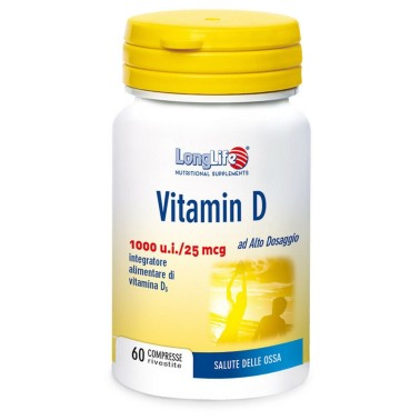 LONG LIFE VITAMIN D 1000 U.I. 60 cpr in vendita su Nutribay.it