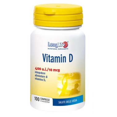 LONG LIFE VITAMIN D 400 U.I. 100 cpr in vendita su Nutribay.it