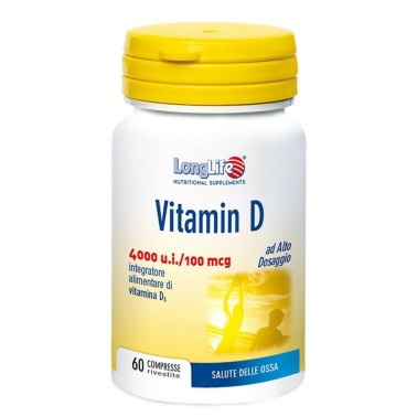 LONG LIFE VITAMIN D 4000 U.I. 60 cpr in vendita su Nutribay.it